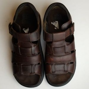 Nunn Bush Fisherman Leather Sandals Woven Sz 10M